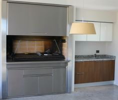 Parrilla Exterior, Kitchen Cabinets, Home Decor, Barbecue Grill, Houses, Drawers, Decoration Home, Room Decor, Cabinets
