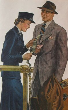 1940s Fashion Illustration Advertisement Man Suit Hat Stetson Menswear by Christian Montone, via Flickr