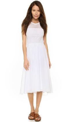Rebecca Taylor Masie Eyelet Midi Dress