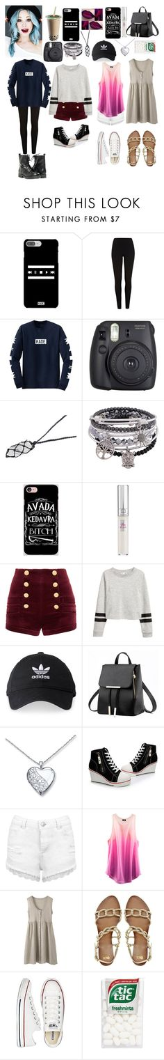 """""""the Quads mom"""" by laylaitaly ❤ liked on Polyvore featuring River Island, Fuji, Samsung, Lancôme, Pierre Balmain, adidas, Miss Selfridge, H&M, ASOS and Converse"""