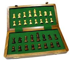(SKU no: chess set_3) Classic Chess Inlaid Wood Board Game with Wooden Chess Set 10""