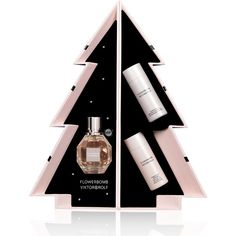 Viktor & Rolf Limited Edition Flowerbomb Tree Holiday Gift Set ($120) ❤ liked on Polyvore featuring beauty products, gift sets & kits, beauty bath & body sets and eau de perfume