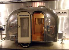 Itty bitty Airstream - Not exactly a teardrop, but not a vehicle either lol - To connect with us, and our community of people from Australia and around the world, learning how to live large in small places, visit us at www.Facebook.com/TinyHousesAustralia