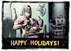 Highly Questionable Santa 2013 Santa Christmas, Christmas Cards, Happy Holidays, Movie Posters, Movies, Art, Christmas E Cards, Art Background, Happy Holi
