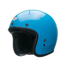 BELL CUSTOM 500 HELMET RETRO BLUE