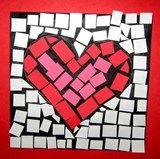 Artsonia Art Exhibit :: 1st Grade Mosaic Heart
