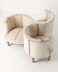 """3-seater tete-a-tete like Jackie Kennedy had in the White House in the 1960s. Now THIS could be cool. Anthropologie had it online only, but now sez """"sold out."""" WHERE to get it?"""