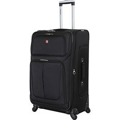 "nice SwissGear Sion 29"" Black Suitcase, Black"