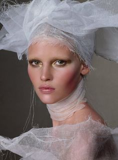 Lara Stone by Steven Meisel for Vogue US March 2010