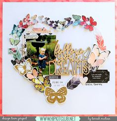 Hi everyone, happy weekend! It's Tarrah McLean back with you and this week I am sharing a new scrapbook layout I created using the stunning January 2017 Main and Add-On kits! Paper Bag Scrapbook, Scrapbook Sketches, Scrapbook Page Layouts, Scrapbook Supplies, Scrapbook Cards, Bridal Shower Scrapbook, Wedding Scrapbook, Smash Book Pages, Hip Kit Club