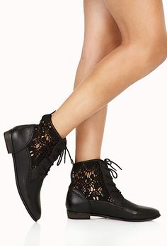 Rustic Girl Lace-Up Boots   FOREVER 21 - 2000108139