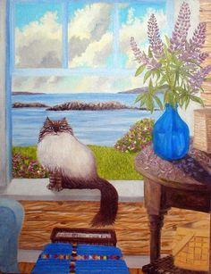 14-chats en peintures serie A  (G.S)