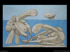 On the Beach by Pablo Picasso, Guggenheim Museum The Solomon R. Guggenheim Foundation Peggy Guggenheim Collection, Venice, 1976 © 2016 Estate of Pablo Picasso/Artists Rights Society (ARS), New. Peggy Guggenheim, Kunst Picasso, Art Picasso, Pablo Picasso Artwork, Guernica, Renoir, Museums In Nyc, Chef D Oeuvre, Henri Matisse