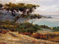 """La Jolla Shores"" Scenic Canvas Art by Stanislav Prokopenko for GreenBox Art + Culture 24x18 $119"