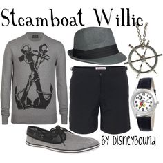 Steamboat Willie, created by lalakay on Polyvore