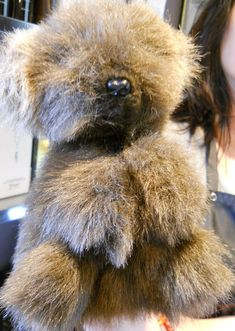 Yastrid Brown Bear Hand Puppet Hand Crafted in Oregon Plush 1984 Furry Vintage #Yastrid