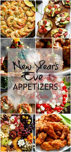 20 Of The Best New Year's Eve Appetizers! All of these appetizers are easy to make, taste amazing and take little to no effort to get onto your table! Party all night long with insanely delicious food! There's something here for everyone!