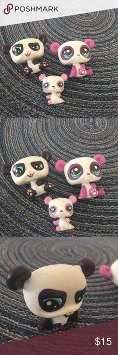 Littlest Pet Shop Pandas Littlest Pet Shop 3 pandas all for $15.00 Littlest Pet Shop Accessories