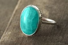 i love rings and i love turquoise...what a great combo