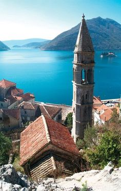 Perast, Montenegro. The narrow streets were a nightmare to drive! The town's setting was amazing though.