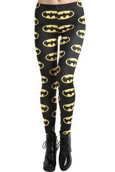 """Batmen"" Black Leggings. Description Black leggings, featuring elastic waist, printed with batman print throughout, a soft touch and delicate length fit. Fabric Cotton and Dacron. Washing 40 degree machine wash , low iron. #Romwe"