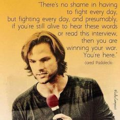 I love this man! His words, and the love behind them, has helped me through a lot  #spnfandom is the best!