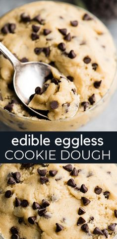 This is the BEST Eggless Edible Cookie Dough Recipe ever! It& easy to make and safe to eat without baking! Eat it with a spoon, toss it in homemade ice cream, or use it as a filling for cakes or cupcakes! There& no wrong way to enjoy this sweet treat! Edible Cookie Dough Recipe For Two, Cookie Dough Vegan, Cookie Dough For One, Homemade Cookie Dough, No Bake Cookie Dough, Cookie Dough Frosting, Edible Cookies, Cookie Dough Recipes, Paleo Cookies