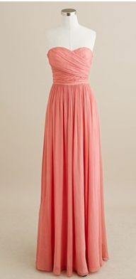 bridesmaids dresses. Beautiful but maybe a diff color!