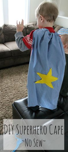 Turn a pillow case into a superhero cape! Kids love this for imaginative play. SO simple, and no sewing!
