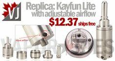 Replica: Kayfun Lite with Adjustable Airflow & Clear Tank