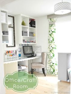I'm in LOVE with this office/craft room makeover! @cleverlyinspire