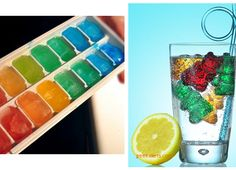 Try colored ice cubes to make drinks more fun! Great for kids or cocktails