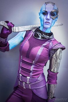 Nebula from Guardians of the Galaxy [Marvel Comics] - Cosplayer: Karin Olava,  Photographer: Danarki