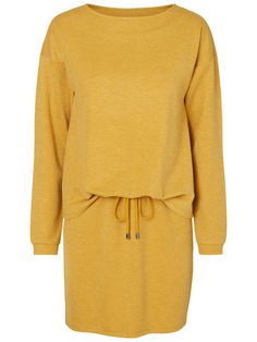 Loose harvest gold dress from VERO MODA. Wear with boots and tights.