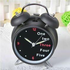 English Digital Double-bell Alarm Clock