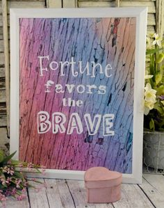 Fortune favors the brave sign digital PDF  by Hudsonsholidays, $5.99