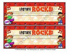 Rockstar classroom theme