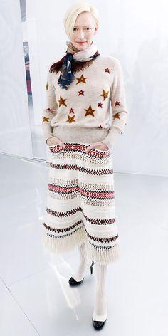 Tilda Swinton in Chanel.