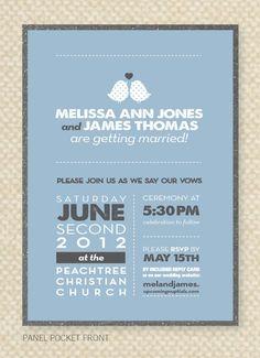 DIY Custom Wedding Invitation Modern Love by sheilamaridesign