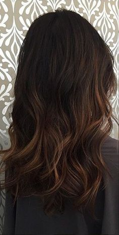 chocolate brown balayage