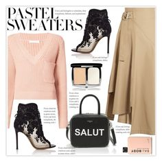 """""""So Sweet: Pastel Sweaters"""" by stranjakivana ❤ liked on Polyvore featuring Chloé, 3.1 Phillip Lim, Gianvito Rossi, Lumière and pastelsweaters"""