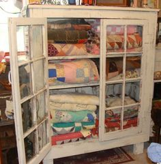 Mamaws quilt cabinet