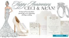 Happy Anniversary, Ceci & Alan! - In honor of Ceci and Alan's special day, we're celebrating all things wedding