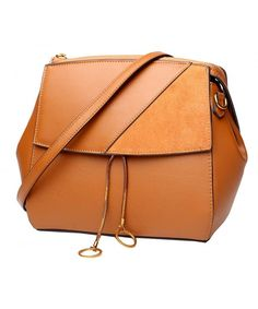 Womens Leather Handbags Shoulder Bag Ladies Designer Purse Cross Body Bags  - Brown - CD18CICXNZM 633c55459d874