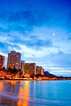 Waikiki Night Light! Near Hale Koa! Watching the sunset here, is so peaceful!