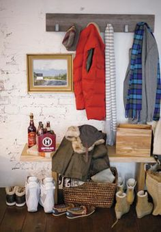 Leigh Wall Coat Rack- could make this with left-over walnut planks
