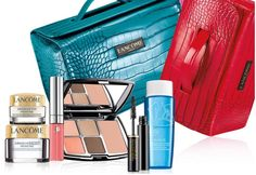 Receive this sample filled train case in your choice of color - free with any $75 or more Lancome purchase at Saks.
