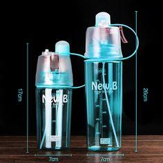 400 ML/600 ML Deporte Botella de Agua Botella de Spray Hidratante Ciclismo Deportes Gimnasio Space Taza A Prueba de Fugas Botellas de Bebidas