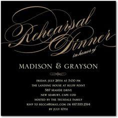 Wedding Paper Divas Rehearsal Dinner Invites