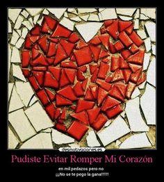 Pudiste Evitar Romper Mi Corazón - en mil pedazos pero no   ¡¡¡No se te pego la gana!!!!!!